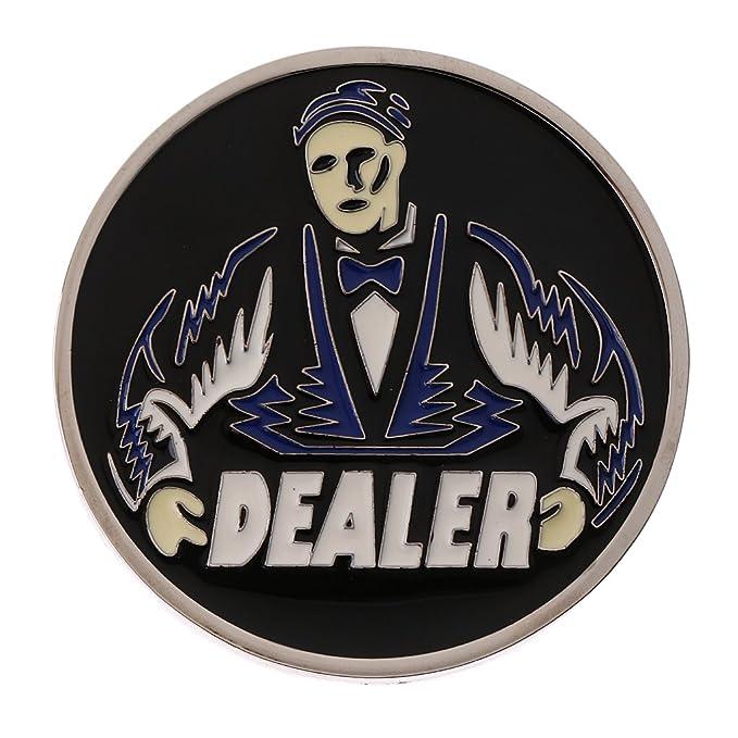 Sharplace Dealer Repartidor Chip Ficha Holdem de Metal ...