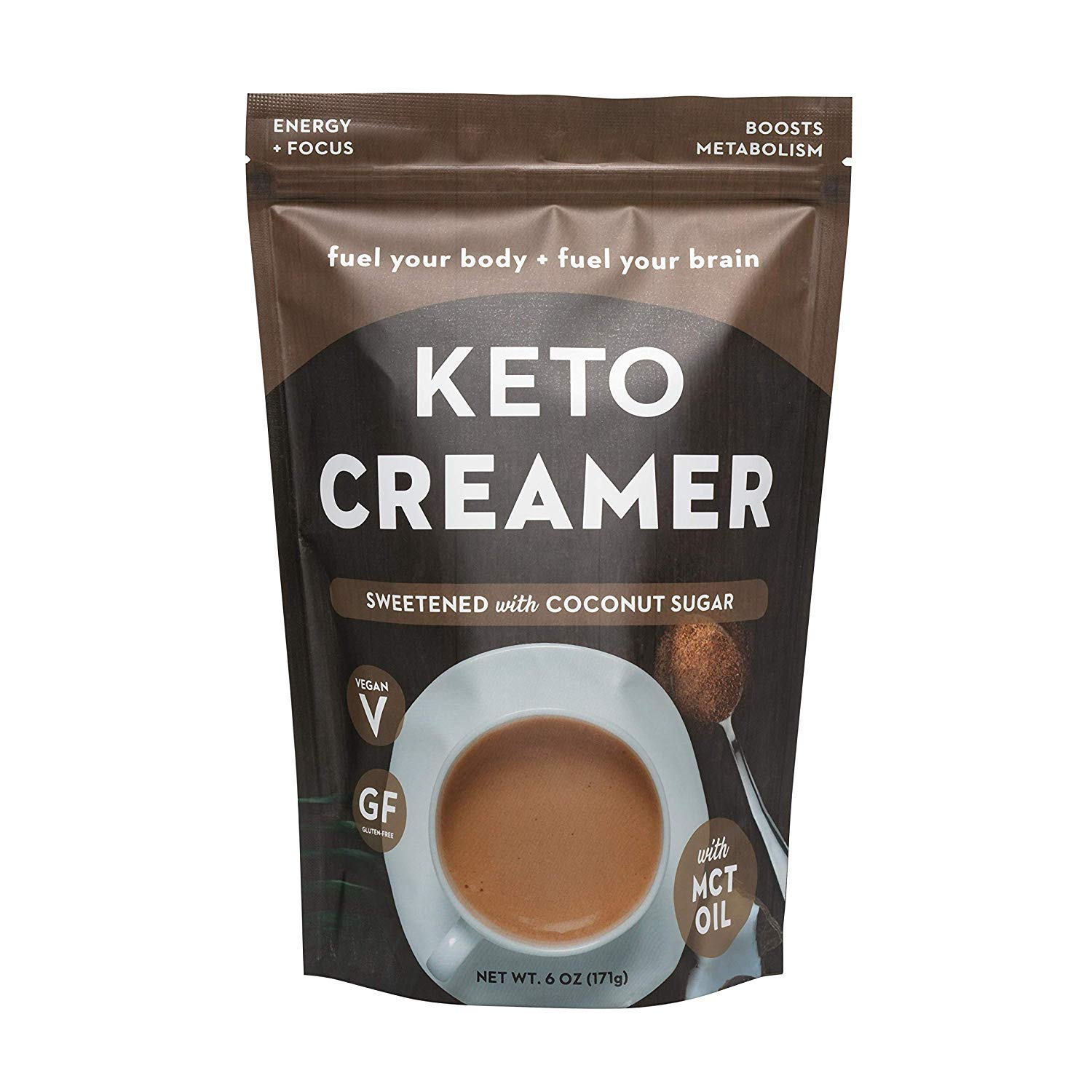 360 Nutrition KETO Creamer With MCT Oil | Sweetened Coconut Sugar | Dairy Free Coffee Creamer Milk Substitute | Weight Loss, Energy, Fat Loss, Supports Ketosis… 71V8agMZ3tL