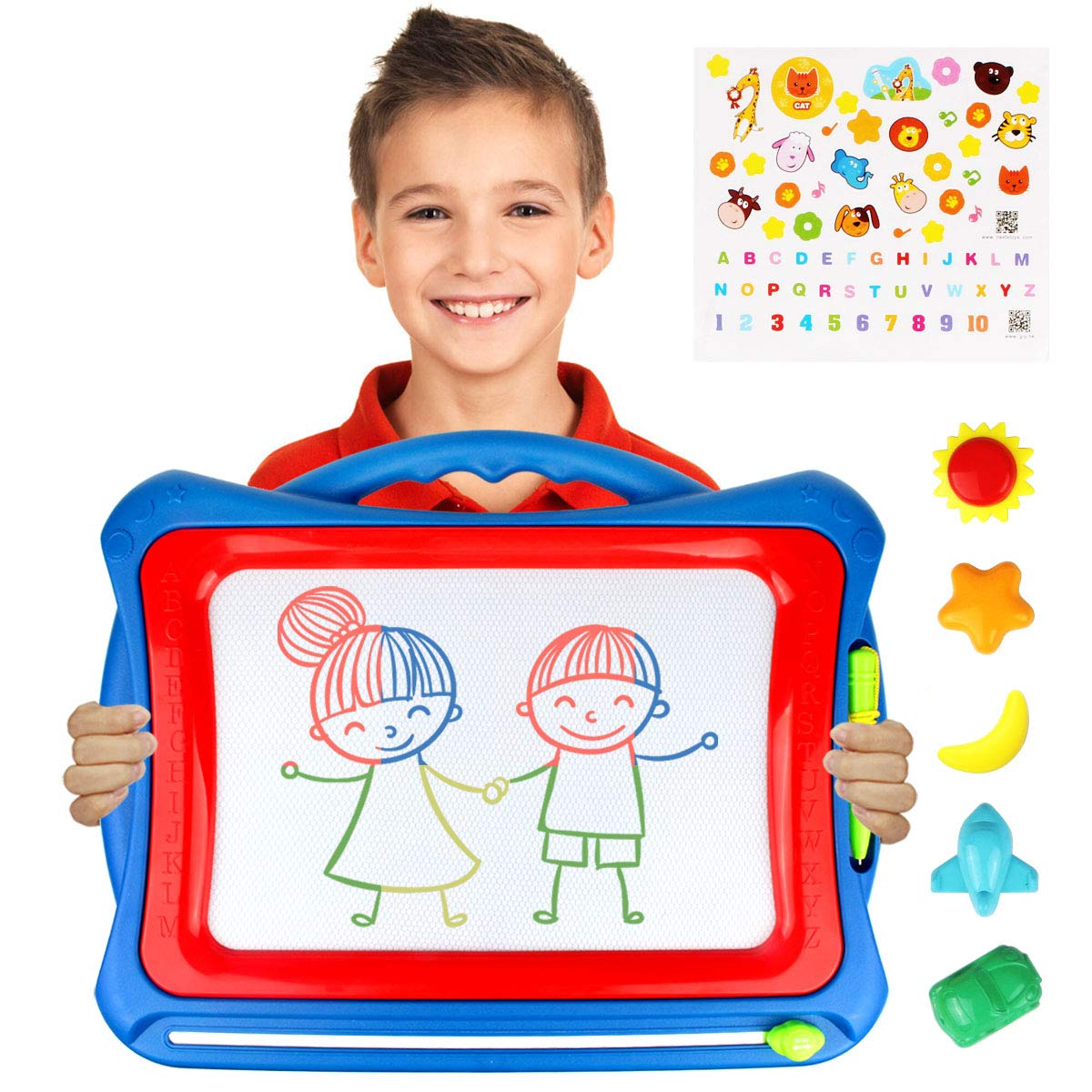 AMOSTING Magnetic Drawing Board, Travel Doodle Board Doodle Sketch Pad