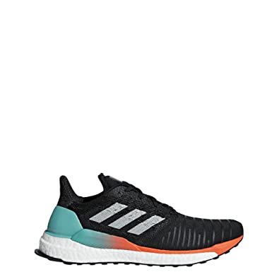 huge selection of afa38 3596b adidas Mens Solar Boost Running Shoe, BlackGreyhi-res Aqua,