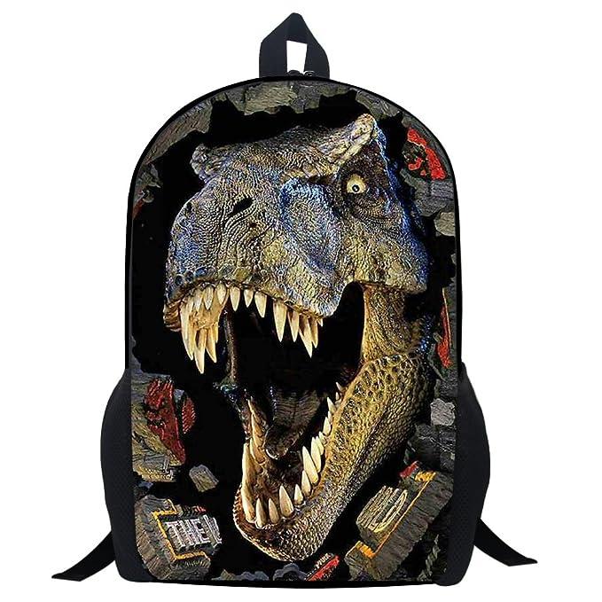 86e9b4d9340 Amazon.com   Dinosaur School Bag Rucksack Backpack (Dinosaur 2 14 Inch)    Kids  Backpacks