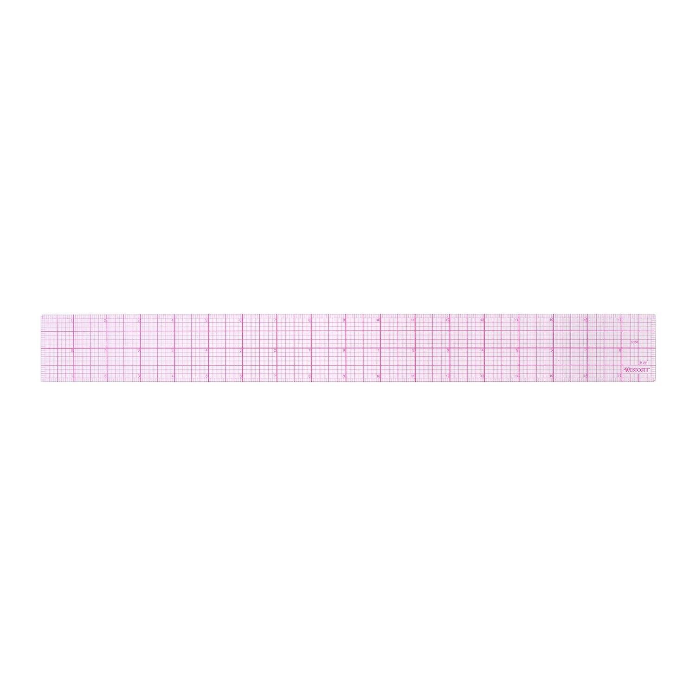 Westcott LetterCraft 8ths 18-Inch Beveled Transparent Ruler (B-85) 2-Pack