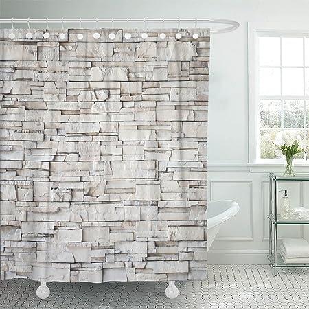 Cortina de ducha Emvency 72 x 72 gris, abstracto, para pared de ...