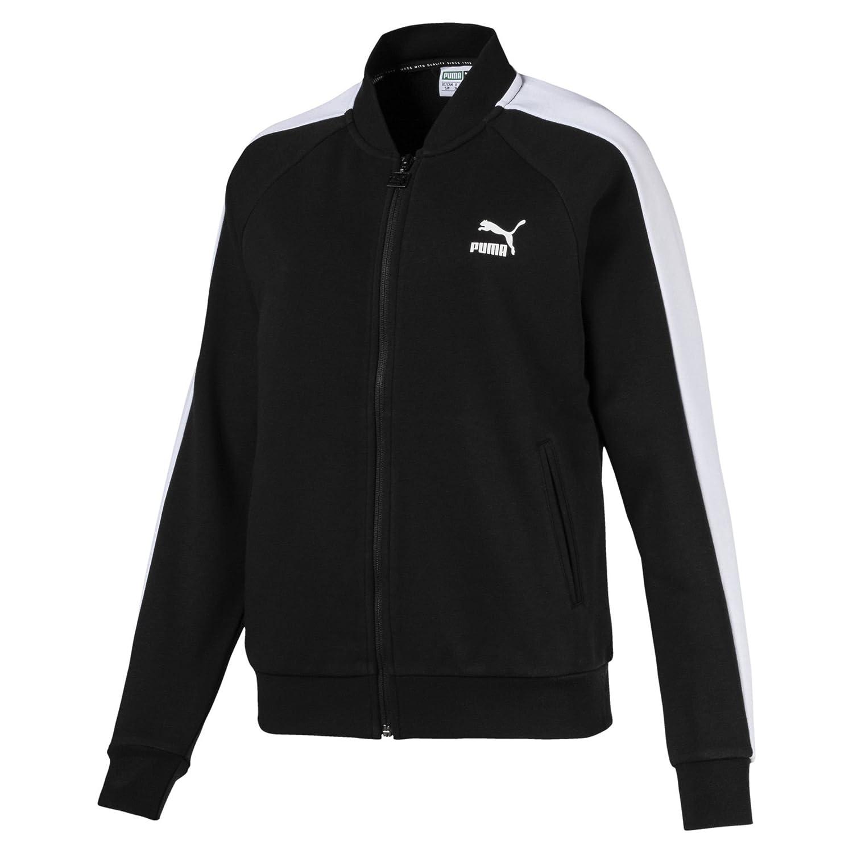 Puma Classics T7 Track Sweatshirt, Mujer, Cotton Black, S