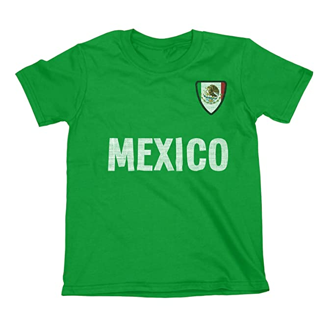 Niños O Niñas Mexico Country Name and Badge Camiseta Fútbol Copa Mundial 2018 Kids Sports: Amazon.es: Ropa y accesorios