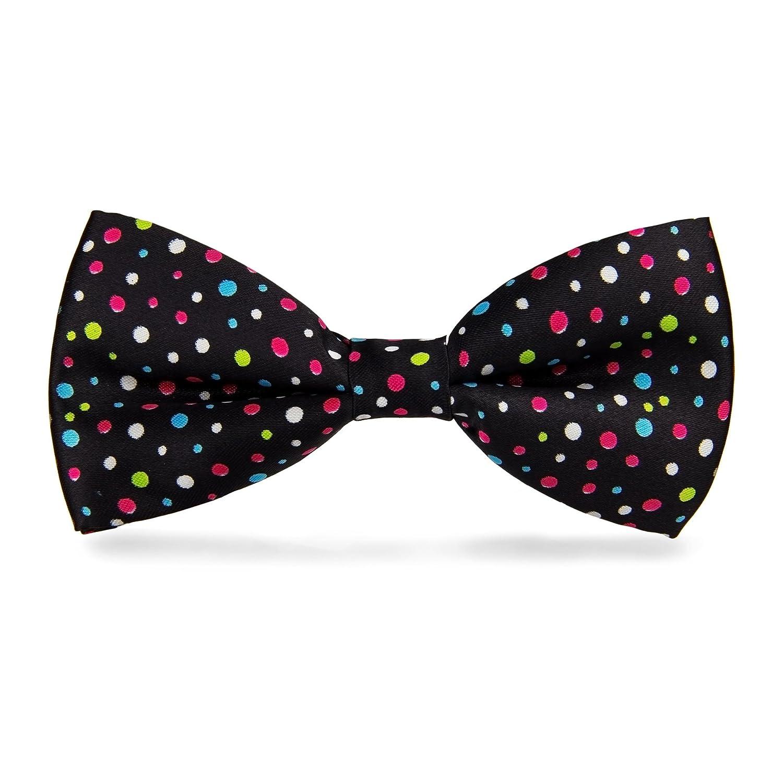 cravateSlim Noeud Papillon /à pois multicolores