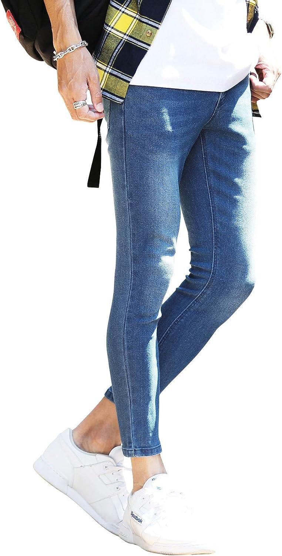 [ジギーズショップ] ジーンズ スキニー デニムパンツ メンズ ストレッチ素材 フルレングス & アンクル