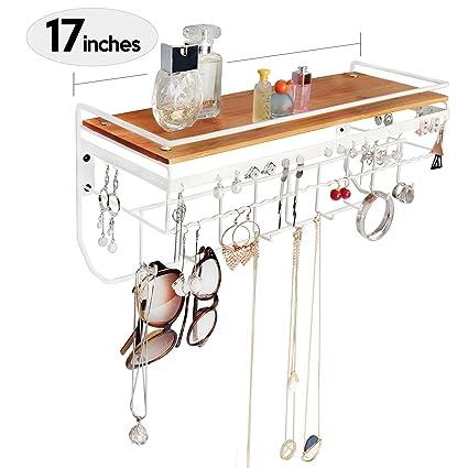 Amazoncom JackCubeDesign Hanging Jewelry Organizer Necklace Hanger