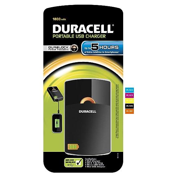 Duracell PPS5H - Cargador portátil USB a Micro/Mini USB ...