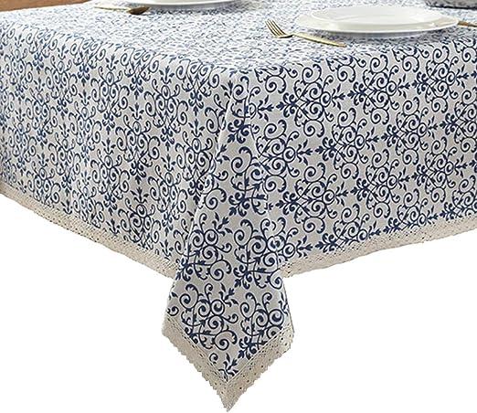 Rectangle Mantel de lino de algodón,Manteles Estampados,Mantel Antimanchas Mantel,Mantel para mesa de cocina o salón (Tamaño : 140x140cm (55x55inch)): Amazon.es: Hogar