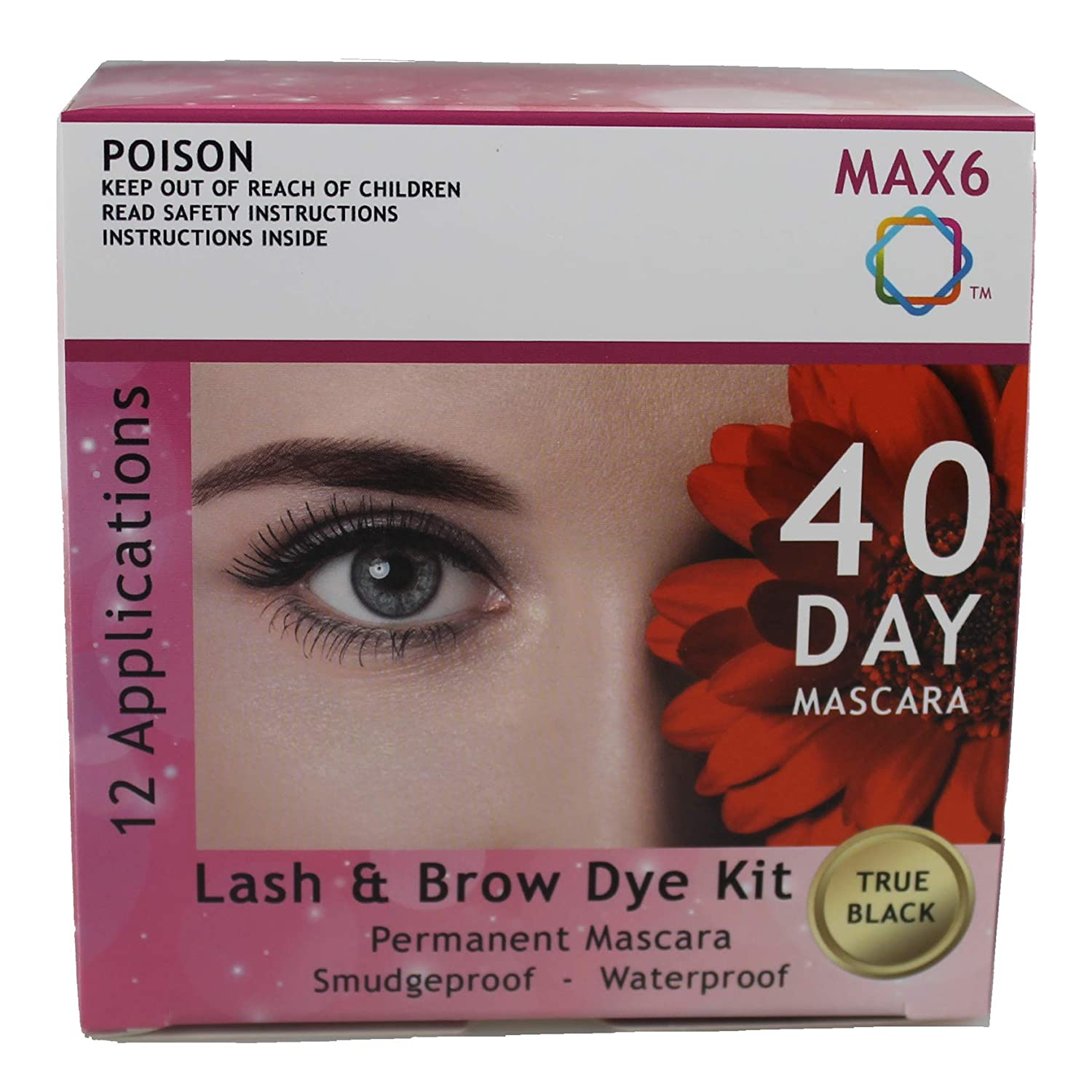 Amazon Max6 Eyelash Brow Dyetint Kit Permanent Mascara