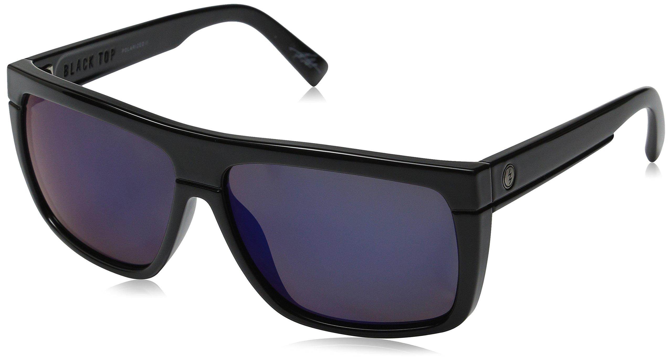 Electric Visual Black Top Gloss Black/OHM+Polarized Blue Sunglasses