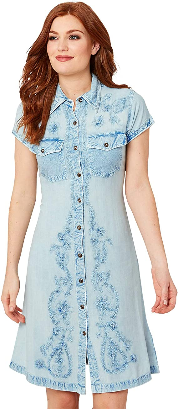 Joe Browns vestido de camisa vaquera con botón a través de botones para mujer: Amazon.es: Ropa y accesorios