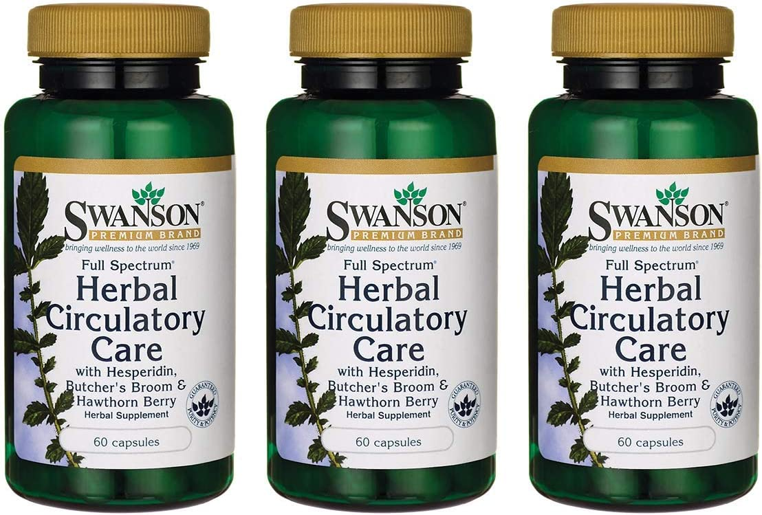 Swanson Full Spectrum Herbal Circulatory Care 60 Capsules (3 Pack)