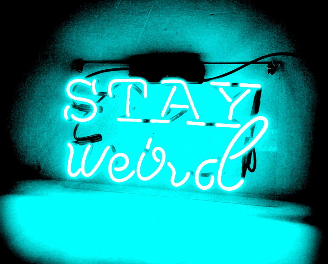 Night Light lamp Decor Neon Light Sign Beer Bar Custom Home Lighting Decorations - Perfect for Bedroom, Living Room, Hallway, Stairways, Office, Garage, Windows - STAY weird