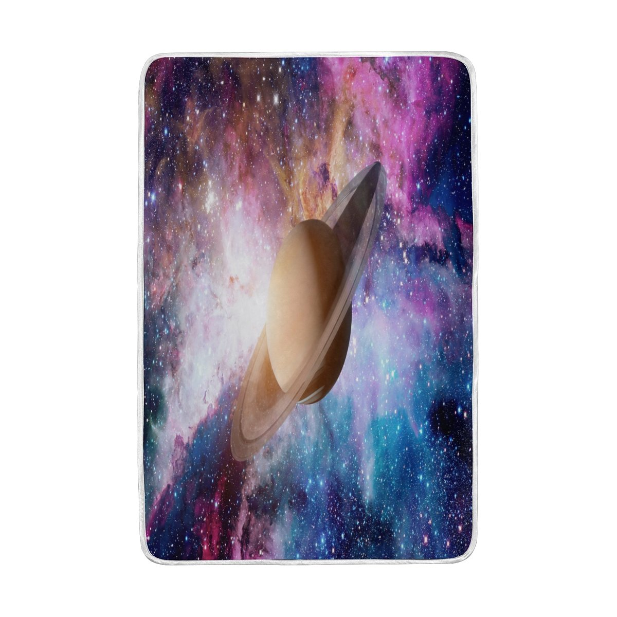 ALAZA Home Decor Solar System Galaxy Nebula Soft Warm Blanket for Bed Couch Sofa Lightweight Travelling Camping 90 x 60 Inch Twin Size for Kids Boys Women