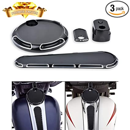 Amazon.com: Fuel Gas Door Cover + Fule Dash Cover + Ignition switch Cover For Harley-Davidson Electra Glide Road Glide Street Glide Touring Models 2014-17: ...