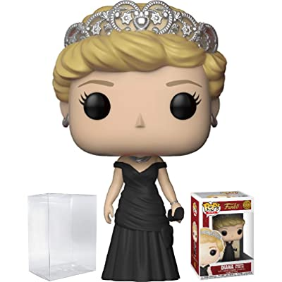 Funko Pop! Royals: The Royal Family - Diana Princess of Wales Vinyl Figure (Bundled with Pop Box Protector Case): Toys & Games