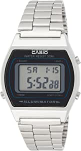 Casio B640WD-1AV Classic Digital Watch with Stainless Steel Band - Silver