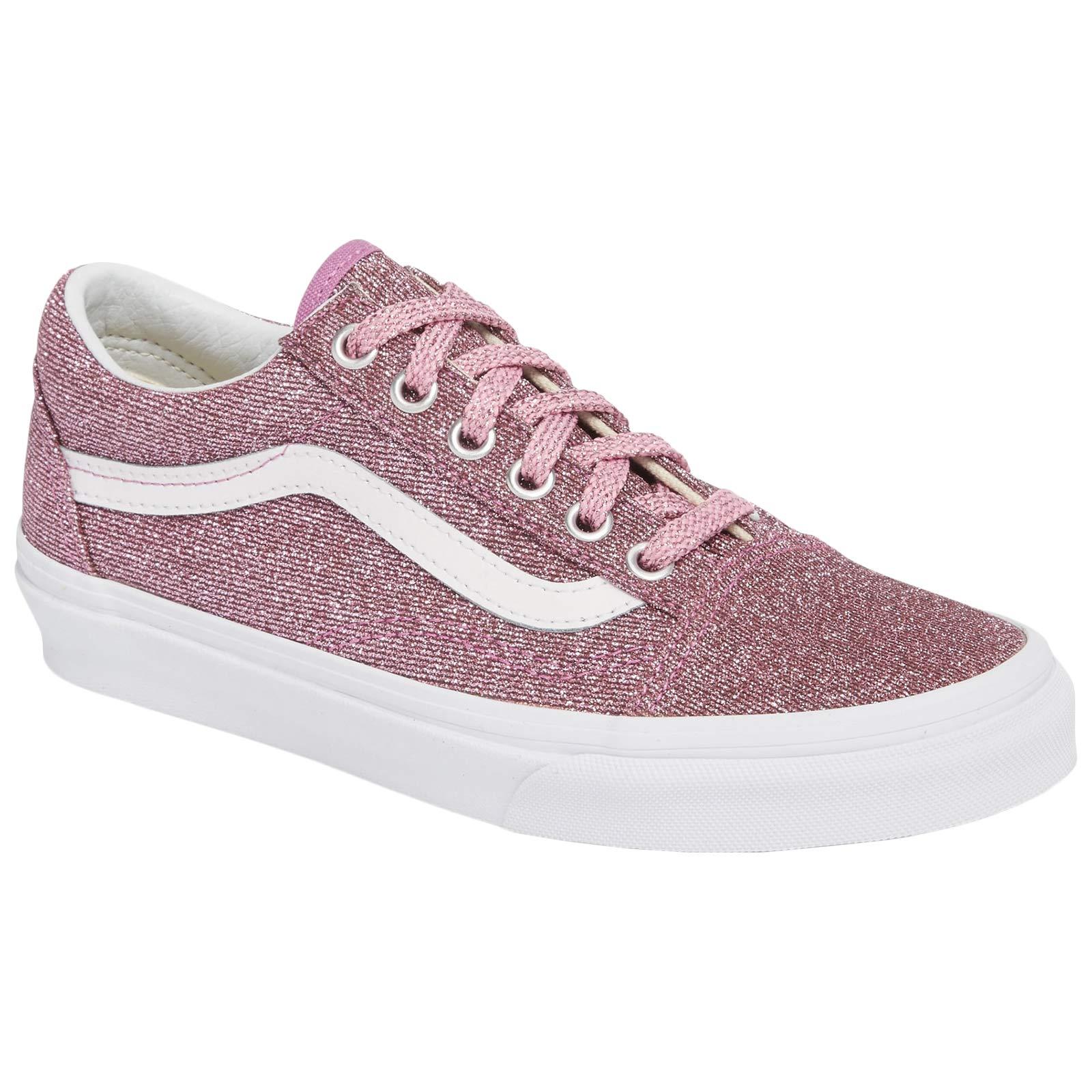 1017750d404 Galleon - Vans Unisex Old Skool Textile Pink True Trainers 9 W   7.5 ...