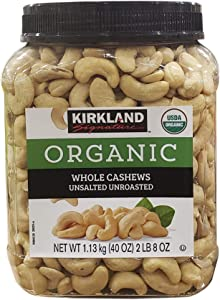 Kirkland Signatures Organic Whole Cashews Unsalted Unroasted