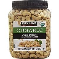 Kirkland Signatures Organic Whole Cashews Unsalted Unroasted