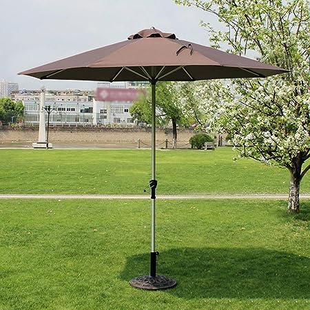 Pkfinrd Sombrillas Mercado Patio al Aire Libre Paraguas Jardín Tabla cesped Canopy Poste de Aluminio Paraguas Protector UV 270cm * 250cm (Color: Vino Tinto) (Color : CoffeColor): Amazon.es: Hogar
