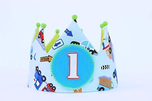 Corona de cumpleaños niño con dibujos de coches, regalo niño ...