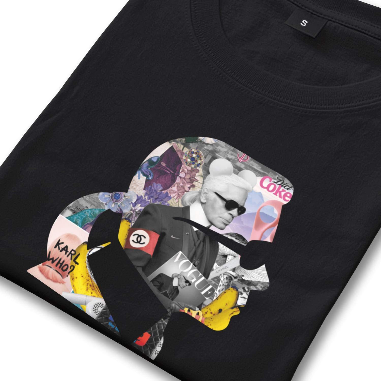 e9934b47 Dutte Lisa Short Sleeve Tees O-Neck Cool-Karl-Lagerfeld- T-Shirt for Men |  Amazon.com