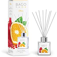BAGO home Fragrance Oil Reed Diffuser Set - Citrus | Citrus, Pomegranate & Musk Notes | 100 ml 3.4 oz