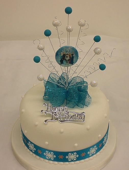 FROZEN CAKE TOPPER BURST WITH RIBBON BIRTHDAY MOTTO Amazonco