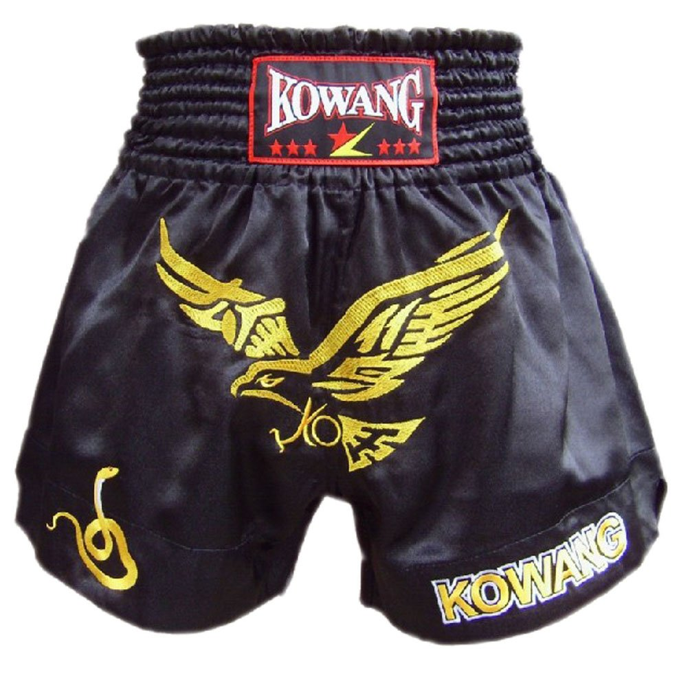 Fight Kick Boxing Brief MMA Muay Thai Trunks Shorts Embroidery Eagle Black, XXL PANDA SUPERSTORE PS-SPO2438345011-CHILLY00223