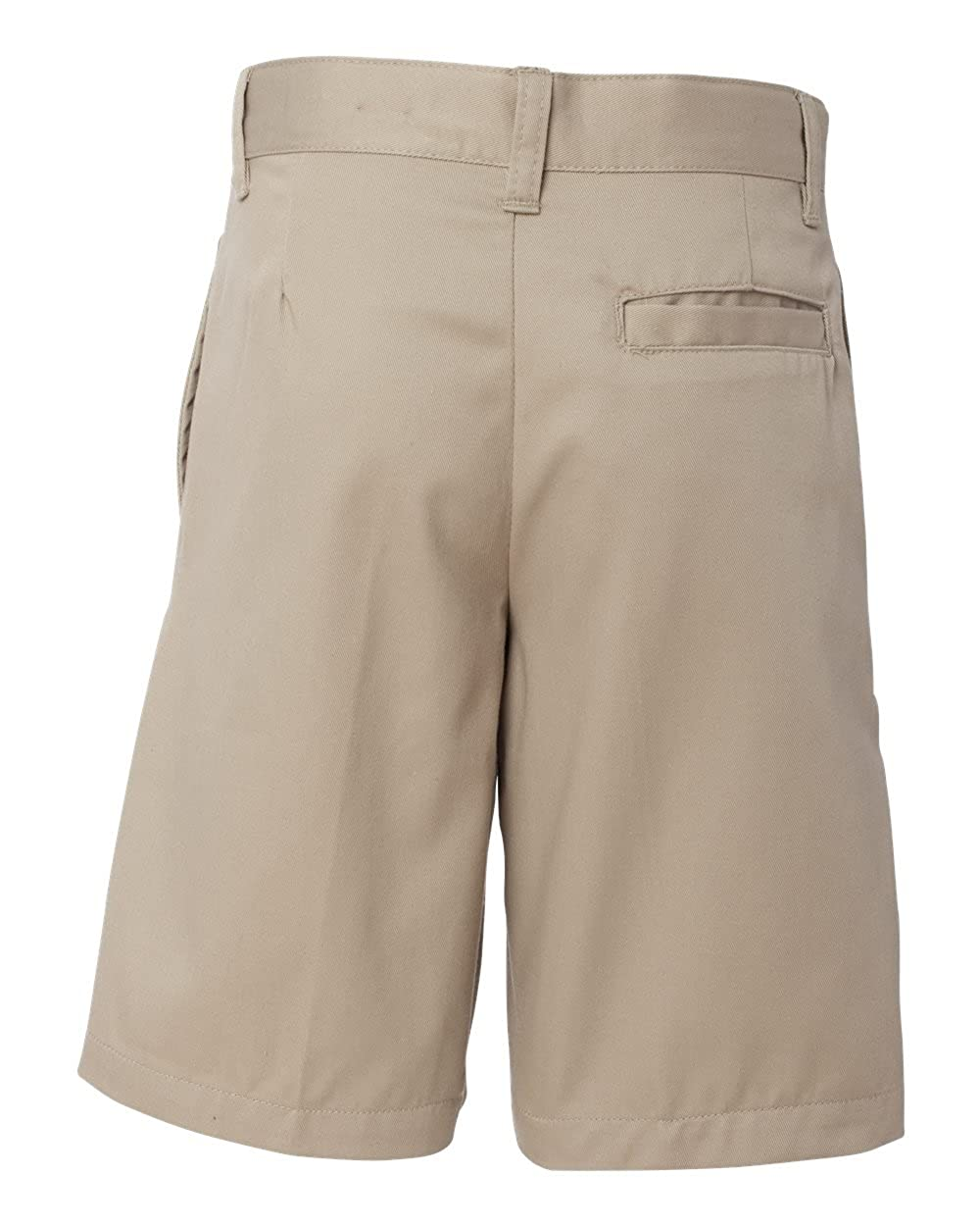 French Toast School Uniform Boys Flat Front Adjustable Waist Shorts, Khaki, 12
