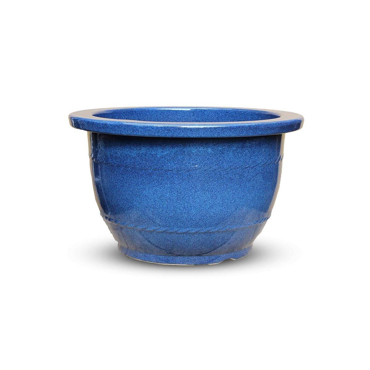 CtoC JAPAN Select 信楽焼 植木鉢 生子リンガタ 18号 18号生子リンガタ鉢 おしゃれ 陶器 4941273317067 B07FK6H2VY  18号