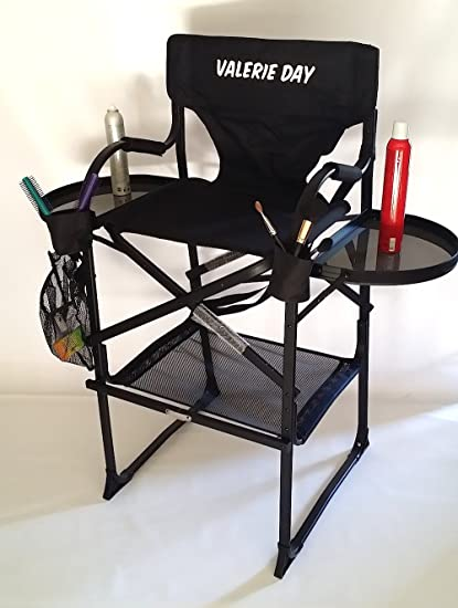 Amazon.com: TuscanyPro Makeup & Hair Chair-Your Name Printed ON This CHAIR-29 Seat Height: Kitchen & Dining