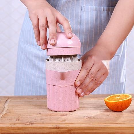 YHLVE 1 UNIDS Trigo Tallos Exprimidor Manual Jugo de Fruta Copa Naranja Exprimidor (Color Al