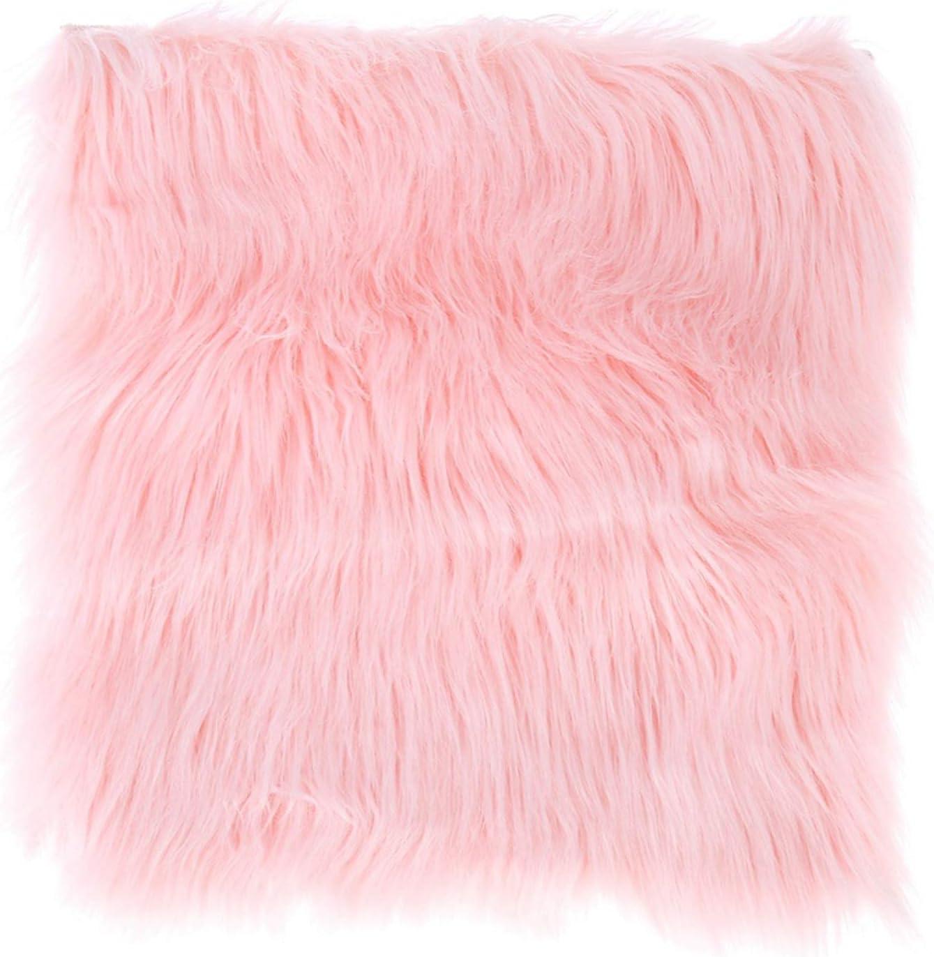 Lollipop Pink Genuine Sheepskin Rug Real Fur Chair Cushion Sheep Fur Seat Mats