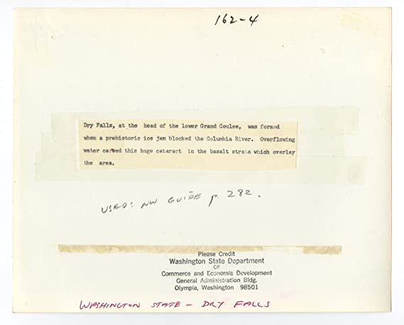 amazoncom washington state vintage 8x10 publication photograph dry falls entertainment collectibles