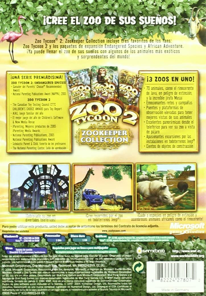 Zoo Tycoon 2 Zookeeper Collection: Amazon.es: Videojuegos