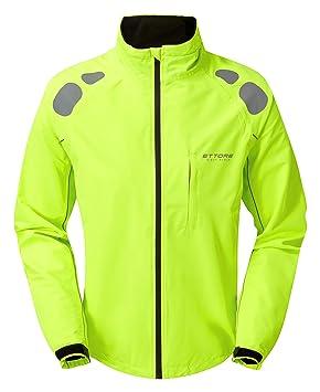Ettore Chaqueta De Ciclismo Impermeable Y Transpirable De Alta Visibilidad En Amarillo para Hombre - Night Eagle II - XXL: Amazon.es: Deportes y aire libre