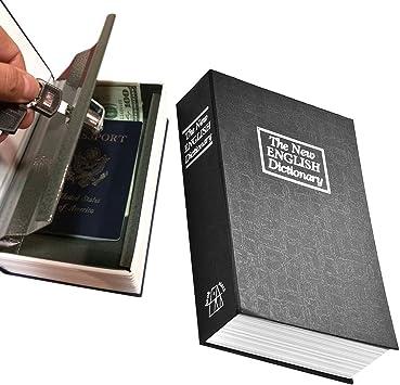 Carcasa de libro caja fuerte con cerradura de llave ...