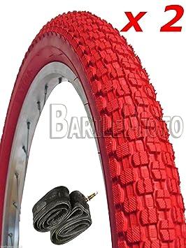 N ° 2/neumáticos de bicicleta 20 x 1,95 n ° 2 Cámara de aire para bicicleta de ciclismo para BMX rojo: Amazon.es: Deportes y aire libre