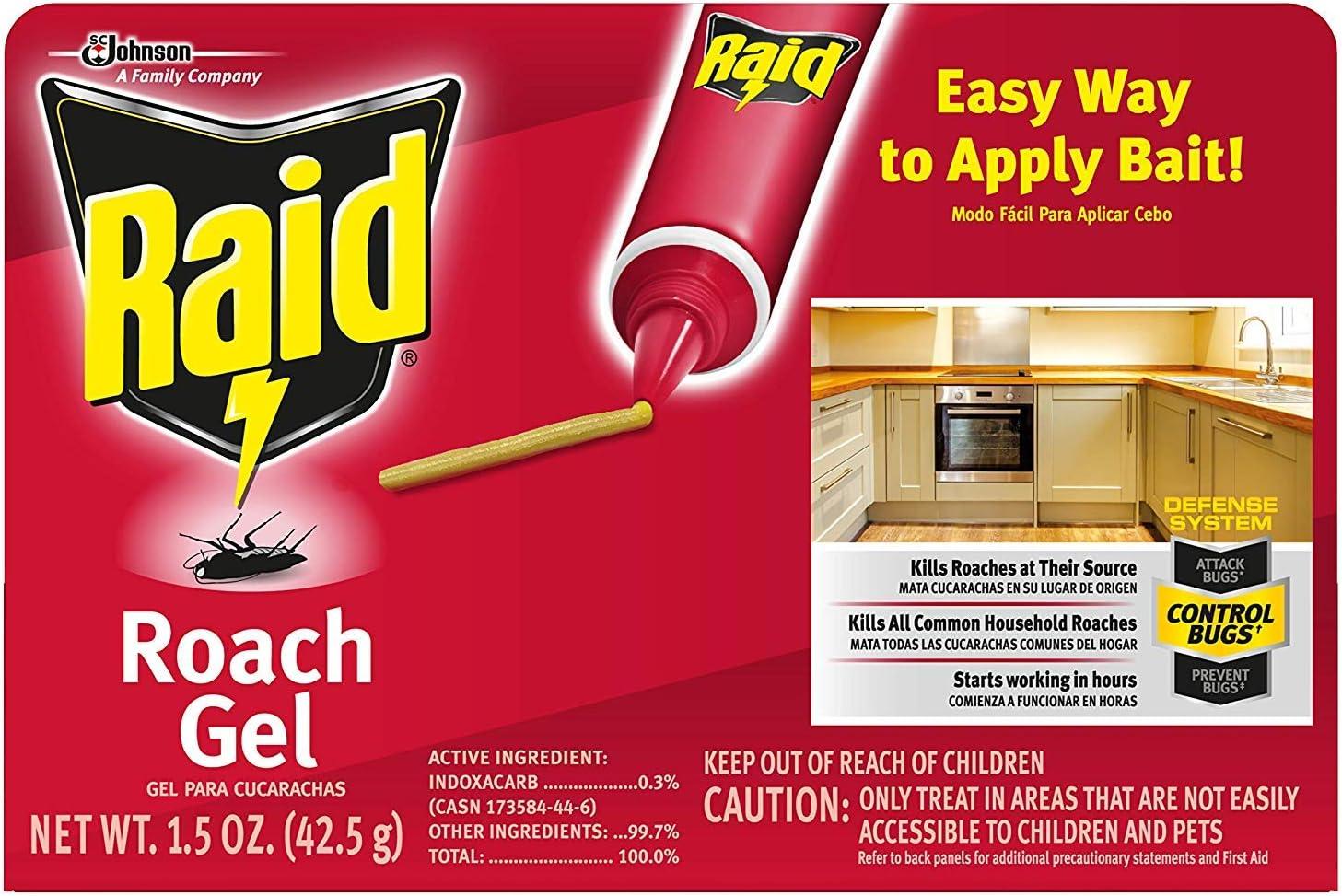 Raid Roach Gel, 1.5 OZ