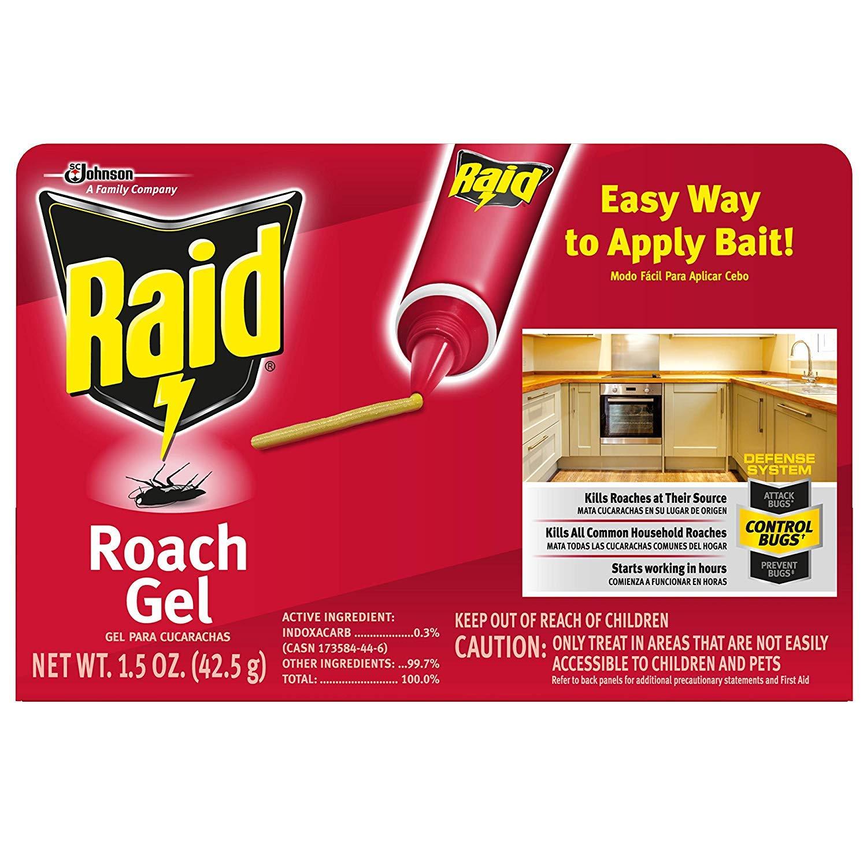 Raid Roach Gel, 1.5 OZ (Pack of 6) by Raid