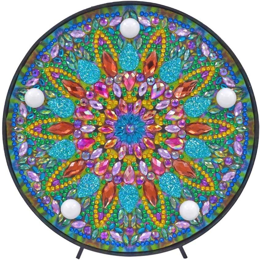 DHYED 5D DIY LED Diamante Pintura Luz Mandala Luz especial Taladro Lámpara Luz nocturna Regalo Home Ornaments Lámpara Diamond Painting Lámpara para Niños / Adultos