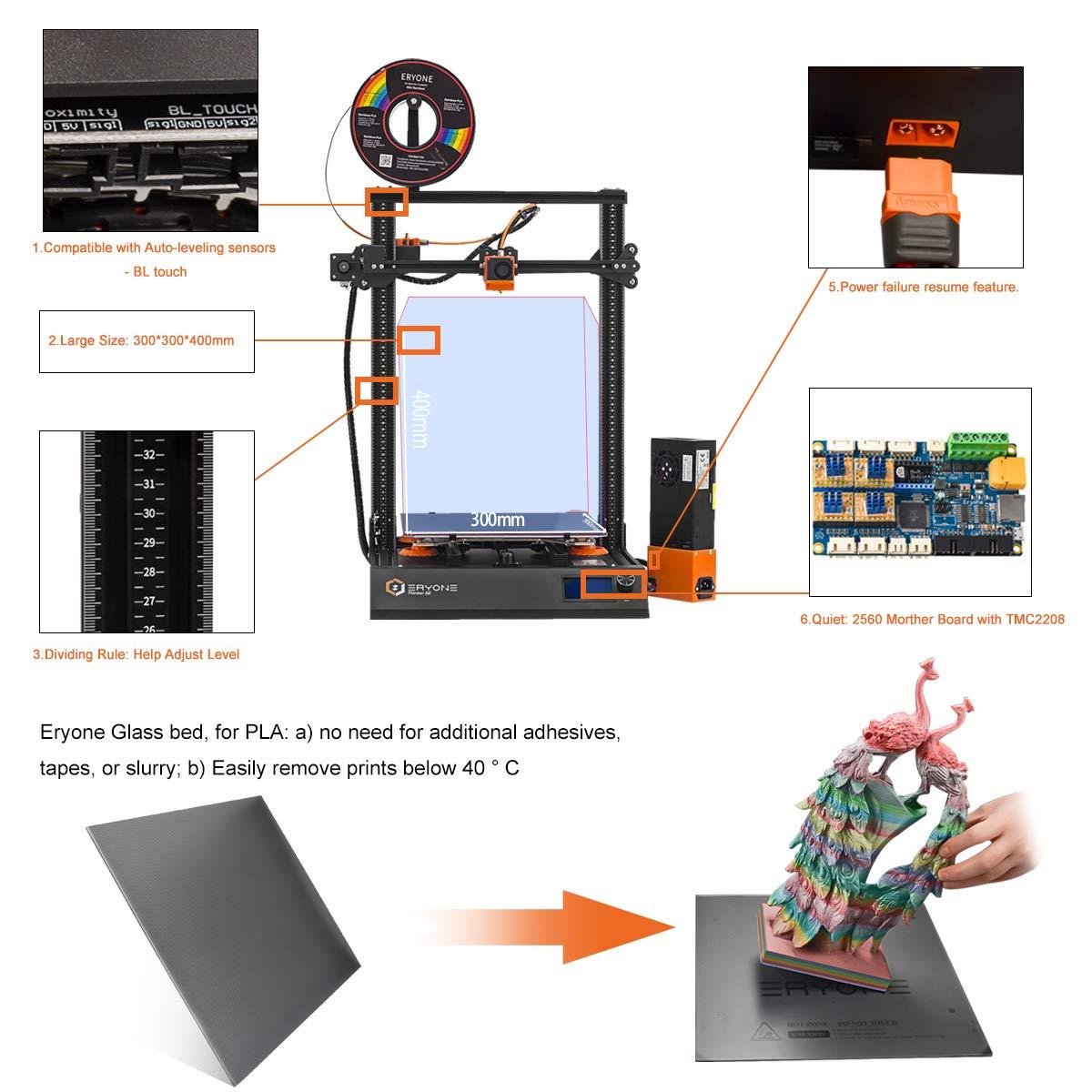 Impresora 3D Eryone Thinker SE, súper silenciosa, superficie de ...