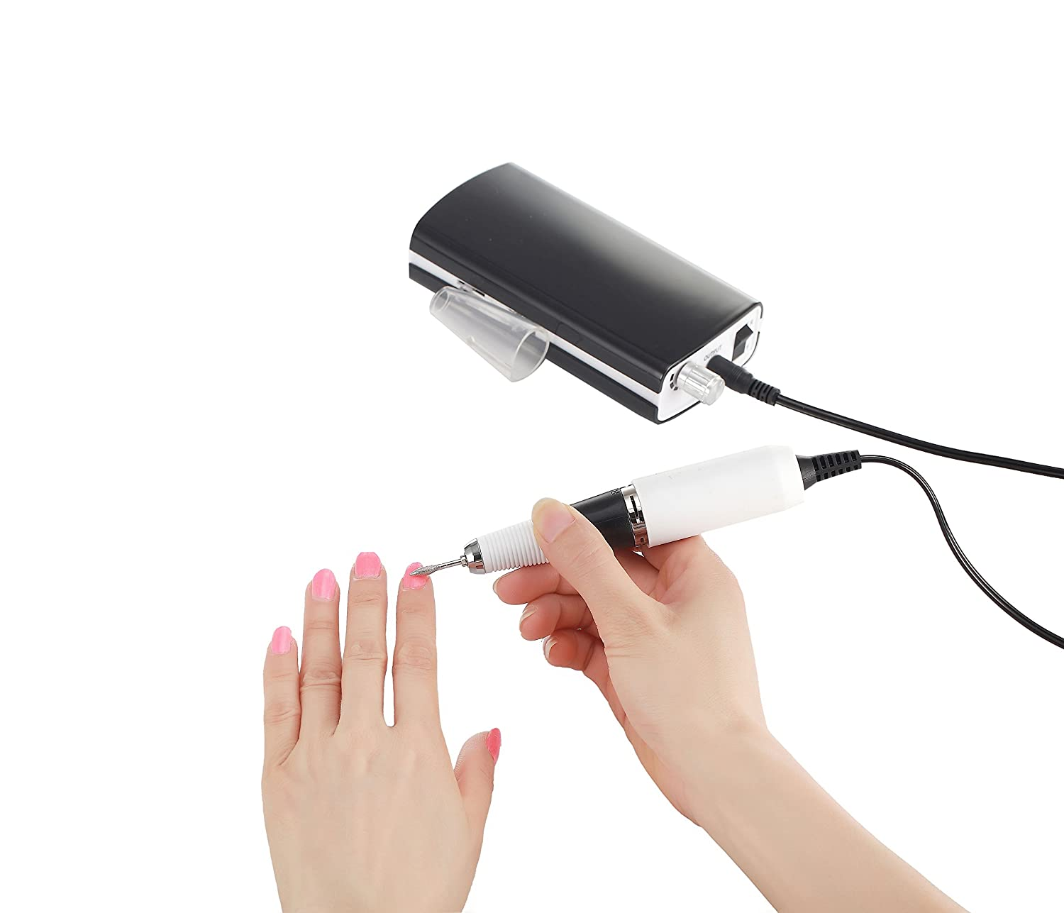 Amazon.com: Miss Sweet Portable Nail Drill Machine Rechargeable Electric Nail File for Acrylic Nail RPM30000 (Black): Beauty