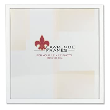 Amazoncom Lawrence Frames 755812 White Wood Picture Frame 12 By