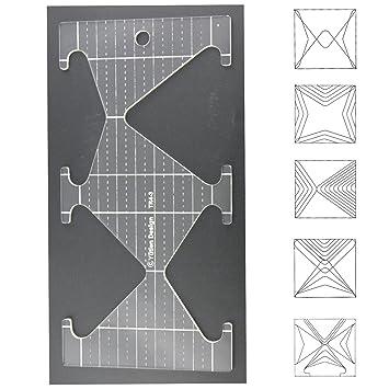 3 mm de acrílico de punto de sueño Patchwork Quilting plantilla regla triangle-diamond forma