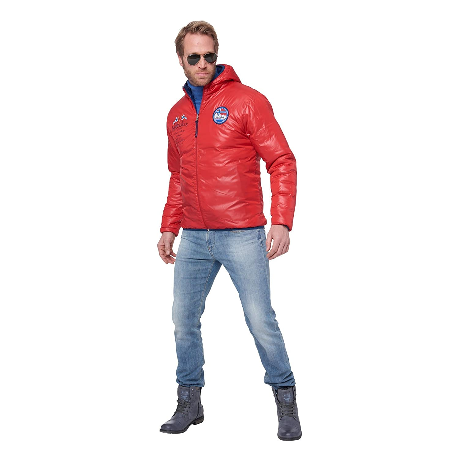 43d0f400eb688 Nebulus Men's Reversible Jacket Reverse Multi-Coloured Navy-Rot Size:S:  Amazon.co.uk: Sports & Outdoors